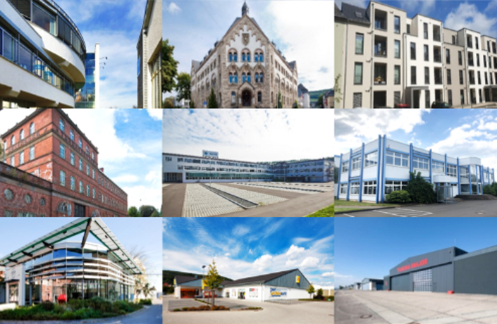 Collage mehrerer Immobilien
